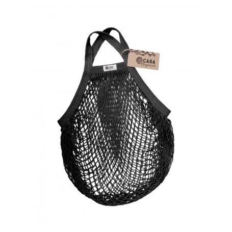 Tinklinis maišelis pirkiniams (juoda spalva)