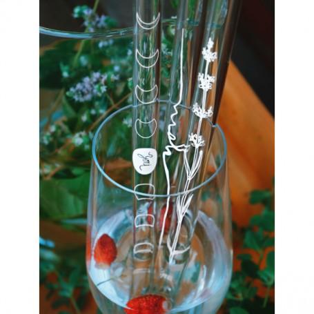 Stikliniai šiaudeliai (3 vnt)