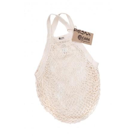Tinklinis pirkinių krepšys su rankenomis (Natural)
