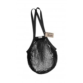 Tinklinis pirkinių krepšys su ilgomis rankenomis (Black)
