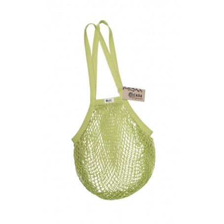 Tinklinis pirkinių krepšys su ilgomis rankenomis (Lime)