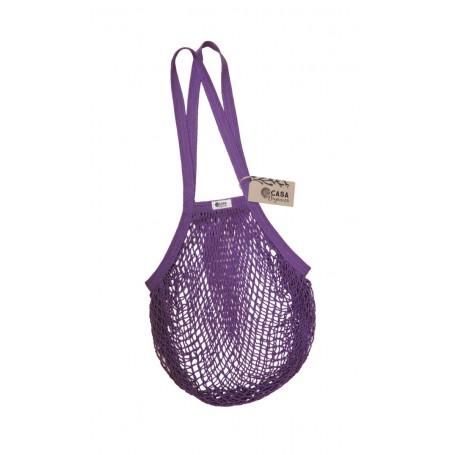 Tinklinis pirkinių krepšys su ilgomis rankenomis (Blackberry)