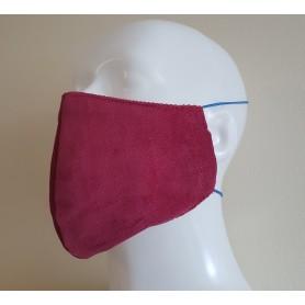 Medžiaginė veido kaukė (bordo)
